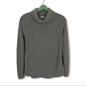 Vince Wool Cashmere Sweater Small Gray Side Zip